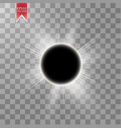 Total solar eclipse on vector