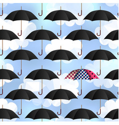 Umbrellas on blur background vector
