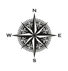 vintage navigation compass sign vector image