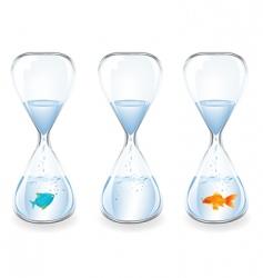water clocks vector image vector image