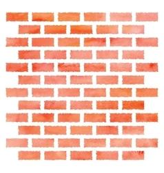 Watercolor brick wall vector