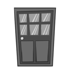 Wooden interior door icon black monochrome style vector