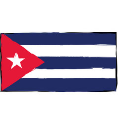 Abstract cuba flag or banner vector