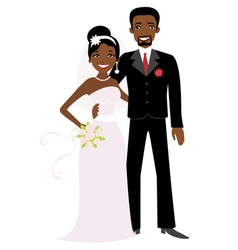 African american wedding vector