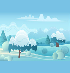 cartoon game landscape with vector image
