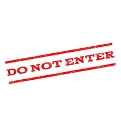 Do not enter watermark stamp vector