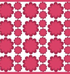 Flower delicate seamless pattern design vector