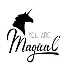 unicorn mythical horse vector image