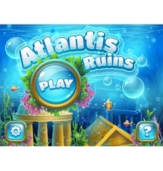 Atlantis ruins - boot screen vector image