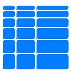 Blue smartphone sms chat blank bubbles set vector
