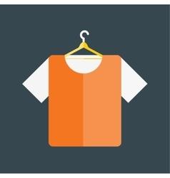 Cartoon fashion color shirt vector image