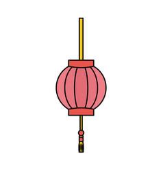 japanese light lamp vector image