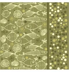 marine wallpaper vector image vector image