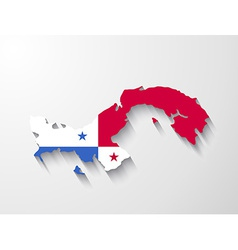 Panama map with shadow effect presentation vector image vector image