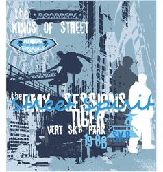 street spirit skater vector image