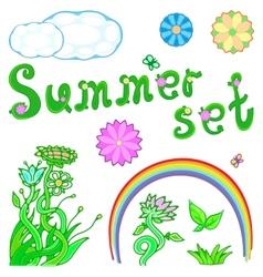 summer set for design vector image