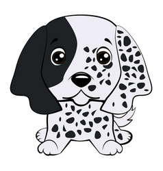 dog puppy english setter hand drawn vector image vector image