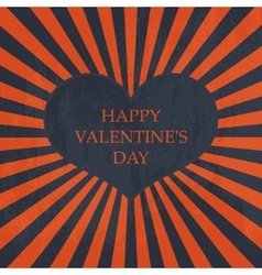 Happy Valentines day Vintage card vector image vector image