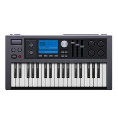 music synthesizer realistic style electronic vector image