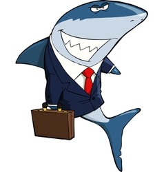 Business Shark vector image vector image