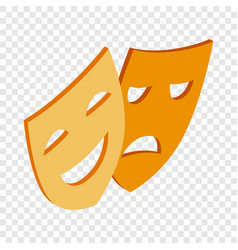 comedy and tragedy theatrical masks isometric icon vector image