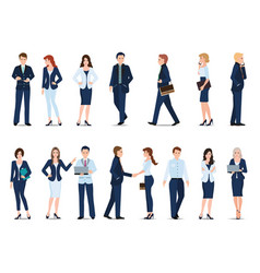 group of business man and business woman isolated vector image vector image