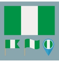 Nigeriacountry flag vector image vector image