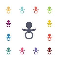 nipple flat icons set vector image