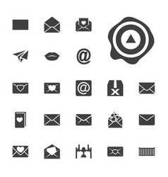 22 mail icons vector