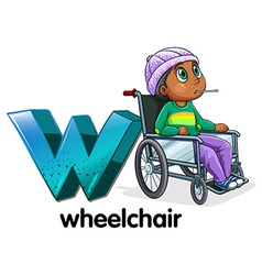 A letter W for wheelchair vector