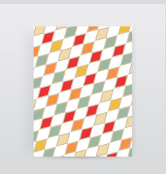 Abstract multicolored rhombus brochure for design vector