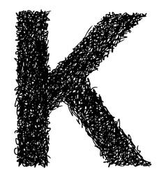 Alphabet k vector