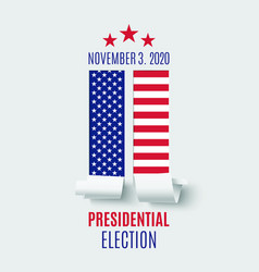 american presidential election abstract brochure vector image