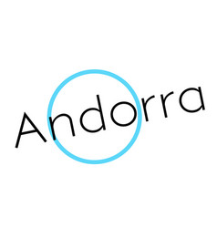 Andorra sticker stamp vector