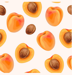 Apricot seamless pattern vector