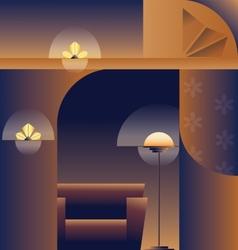 Art Deco abstract background vector image vector image