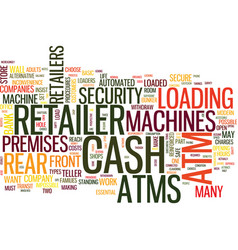 Atms how does retailer decide text background vector