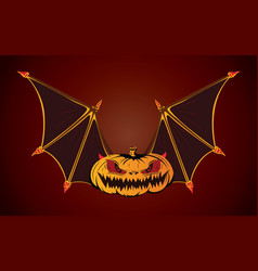 Bat halloween vector