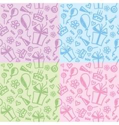 Birthday patterns vector