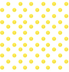 bitcoin seamless pattern vector image vector image