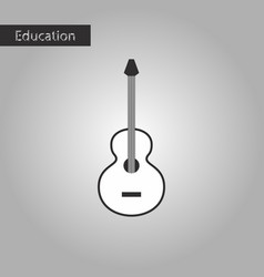 Black and white style icon guitar vector