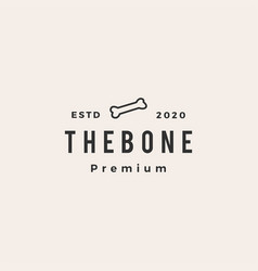 bone dog food hipster vintage logo icon vector image