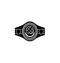 boxing belt belt champion black boxing belt vector image