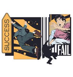 brink failure man woke up from nightmare stock vector image