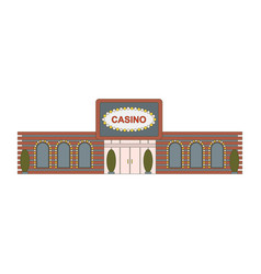 casino building element for game mobile app or vector image