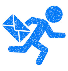 Child mail courier grunge icon vector