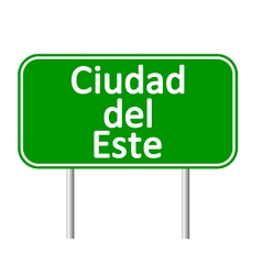 Ciudad del Este road sign vector