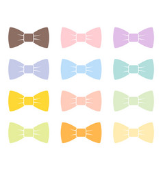 Colorful bow tie isolated bowtie accessory elegant vector