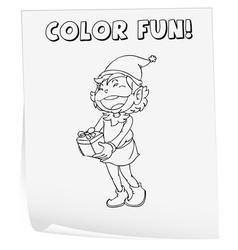 Coloring worksheet vector