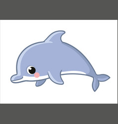 Cute dolphin isolated on a white background vector
